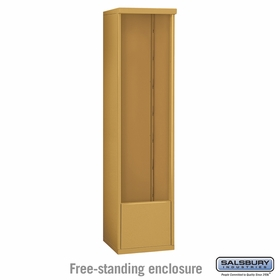 Salsbury 3916S-GLD Salsbury Free-Standing Enclosure - for 3716 Single Column Unit - Gold