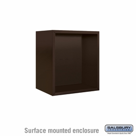 Salsbury Surface Mounted Enclosure for 3705 Single Column Unit - Bronze