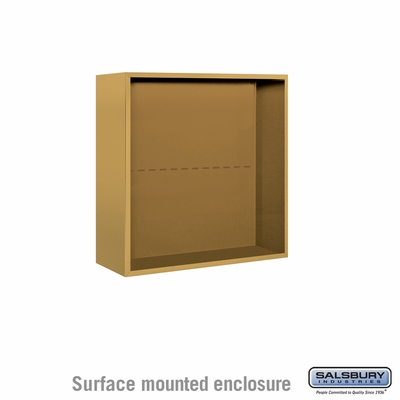 Salsbury 3807D-GLD Salsbury Surface Mounted Enclosure for 3707 Double Column Unit Gold