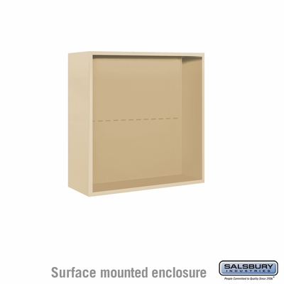 Salsbury Surface Mounted Enclosure for 3707 Double Column Unit - Sandstone