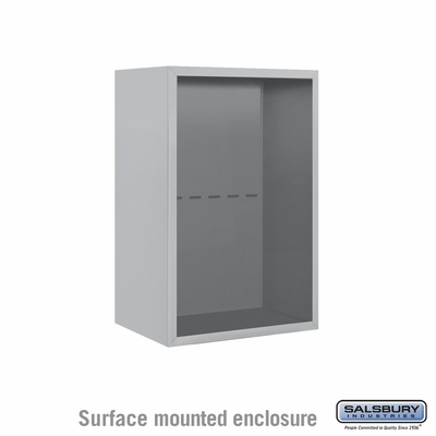 Salsbury Surface Mounted Enclosure for 3707 Single Column Unit - Aluminum