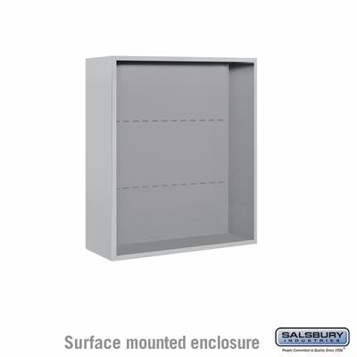 Salsbury Surface Mounted Enclosure for 3709 Double Column Unit - Aluminum