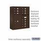 Salsbury Surface Mounted Enclosure for 3709 Double Column Unit - Bronze