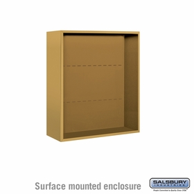 Salsbury 3809D-GLD Salsbury Surface Mounted Enclosure for 3709 Double Column Unit Gold
