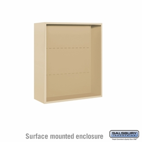Salsbury Surface Mounted Enclosure for 3709 Double Column Unit - Sandstone