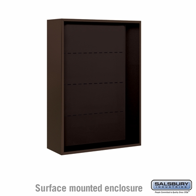 Salsbury Surface Mounted Enclosure for 3711 Double Column Unit - Bronze