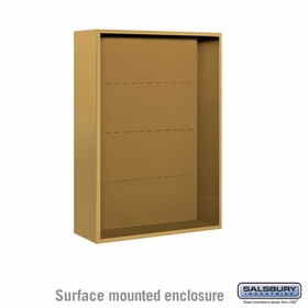 Salsbury 3811D-GLD Salsbury Surface Mounted Enclosure for 3711 Double Column Unit Gold