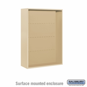 Salsbury Surface Mounted Enclosure for 3711 Double Column Unit - Sandstone