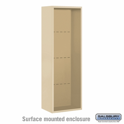 Salsbury Surface Mounted Enclosure for 3711 Single Column Unit - Sandstone