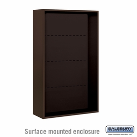 Salsbury Surface Mounted Enclosure for 3713 Double Column Unit - Bronze