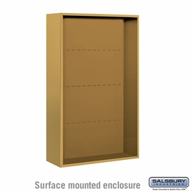Salsbury 3813D-GLD Salsbury Surface Mounted Enclosure for 3713 Double Column Unit Gold