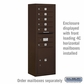 Salsbury Surface Mounted Enclosure for 3713 Single Column Unit - Bronze