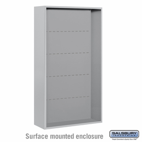 Salsbury Surface Mounted Enclosure for 3715 Double Column Unit - Aluminum