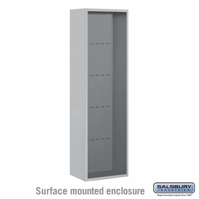 Salsbury Surface Mounted Enclosure for 3715 Single Column Unit - Aluminum