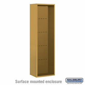 Salsbury 3815S-GLD Salsbury Surface Mounted Enclosure for 3715 Single Column Unit Gold