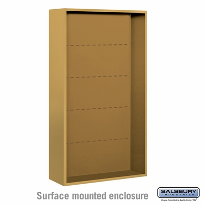 Salsbury 3816D-GLD Salsbury Surface Mounted Enclosure for 3716 Double Column Unit Gold