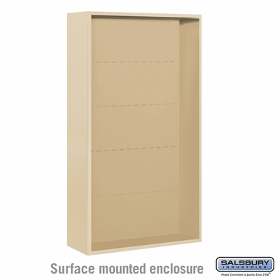 Salsbury Surface Mounted Enclosure for 3716 Double Column Unit - Sandstone