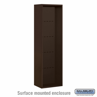 Salsbury Surface Mounted Enclosure for 3716 Single Column Unit - Bronze