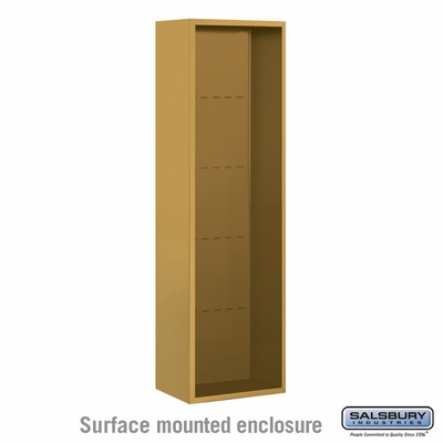 Salsbury 3816S-GLD Salsbury Surface Mounted Enclosure for 3716 Single Column Unit Gold