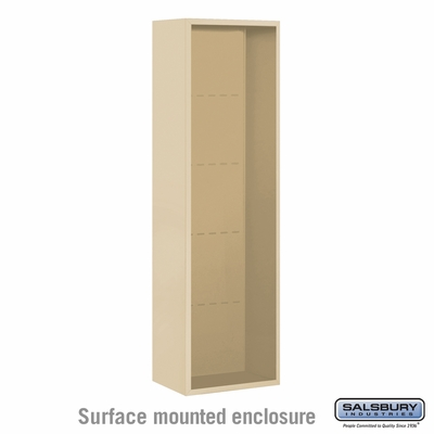 Salsbury Surface Mounted Enclosure for 3716 Single Column Unit - Sandstone