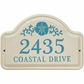 Whitehall Sand Dollar Ceramic Arch Standard Wall Plaque - Two Line - Sea Blue