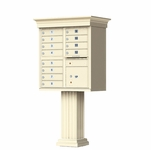 Classic Decorative CBU Mailboxes - 12 Doors 1 Parcel Unit
