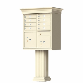 Classic Decorative CBU Mailboxes - 8 Doors 2 Parcel Units