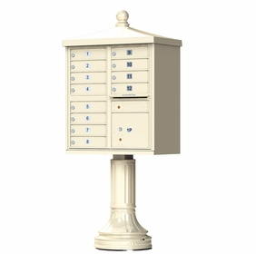 Sandstone Cluster Box Unit with Finial Cap and Traditional Pedestal accessories - 12 compartment