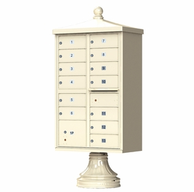 Traditional Decorative CBU Mailboxes - 13 Doors 1 Parcel Unit