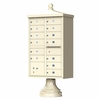 Sandstone Cluster Box Unit with Finial Cap and Traditional Pedestal accessories - 13 compartment