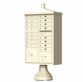 Traditional Decorative CBU Mailboxes - 16 Doors 2 Parcel Units