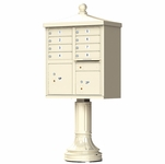 Traditional Decorative CBU Mailboxes - 8 Doors 2 Parcel Units