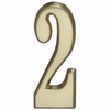 "Whitehall Satin Brass 5"" House Address Numbers Number ""2"""