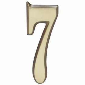 "Whitehall Satin Brass 4.75"" House Address Numbers Number ""7"""