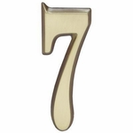 "Whitehall Satin Brass 5"" House Address Numbers Number ""7"""