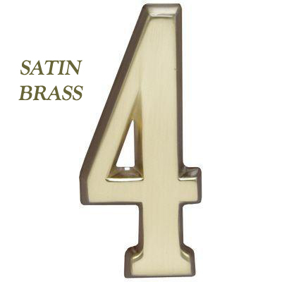 "Whitehall Satin Brass DeSign-it 4.75"" Number ""0-9"""