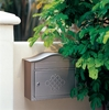 Satin Nickel Peninsula Locking Wall Mount Mailbox with Eternity Door