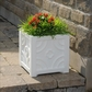 Savannah Patio Planter 16 x 16 - White