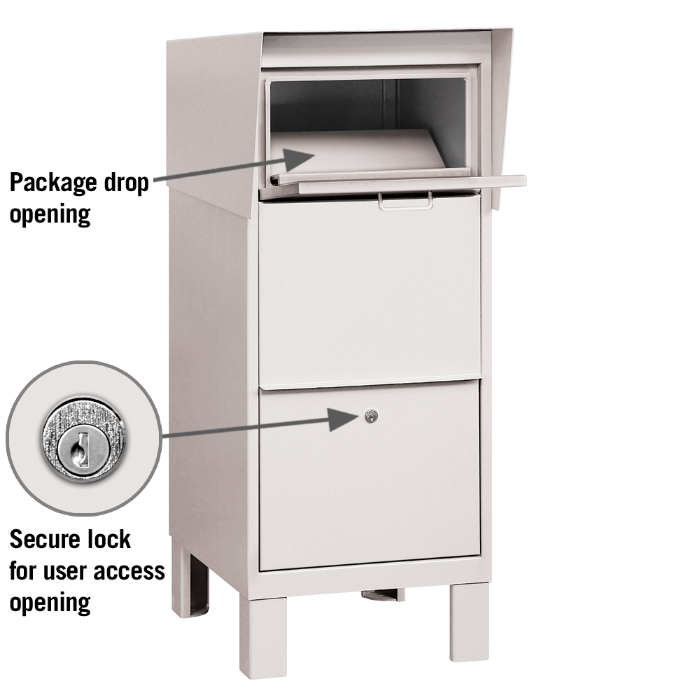 Secure Courier Parcel Mailbox For Package Delivery White