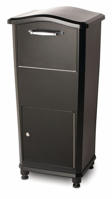 Secure Elephant Trunk Locking Mailbox for Parcel Delivery in Black