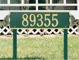 Shell Horizontal - Estate Lawn Address Sign - One Line