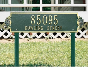 Shell Horizontal - Estate Lawn Address Sign - Two Line