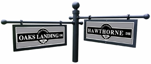 Side Mounting Bracket- Two Twist lock sign mount- For use with 3 inch poles