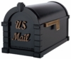 Signature Keystone Series Mailbox - Black with Antique Bronze Script