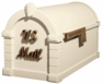 Signature Keystone Series Mailbox - Almond with Antique Bronze Script