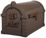 Signature Keystone Series Mailbox - Bronze with Antique Bronze Script