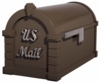 Signature Keystone Series Mailbox - Bronze with Satin Nickel Script