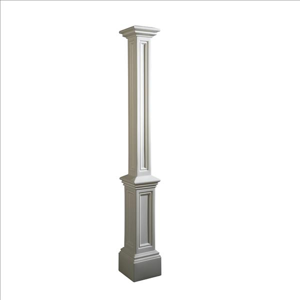 Superbe Signature Lamp Post (decorative Sleeve Only) In White