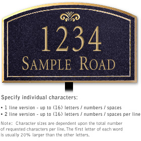 Salsbury 1422BGFL Signature Series Address Plaque