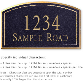 Salsbury 1422BGNS Signature Series Address Plaque